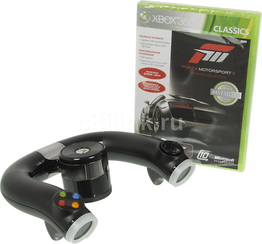 Руль MICROSOFT Wireless Speed Wheel, для  Xbox 360 [2zj-00003/6rf-00014]