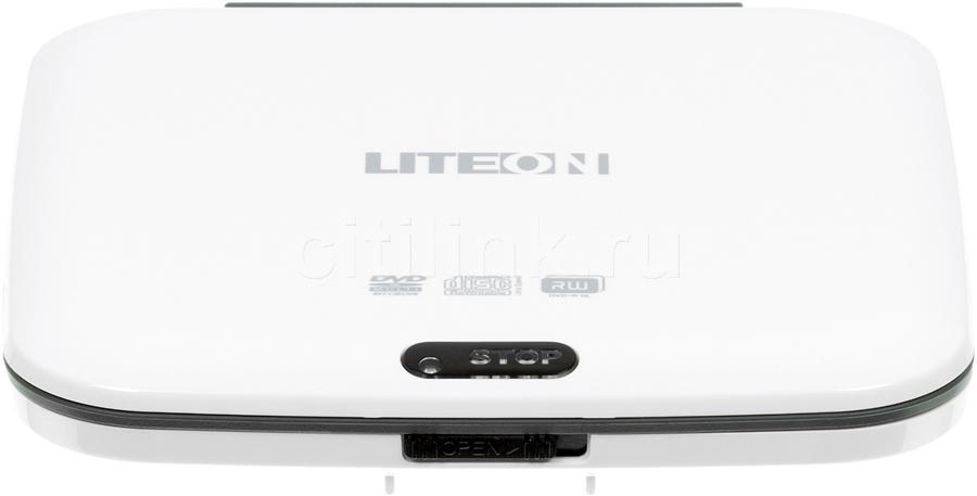 Оптический привод DVD-RW LITE-ON eTAU108-05, внешний, USB, белый,  Ret