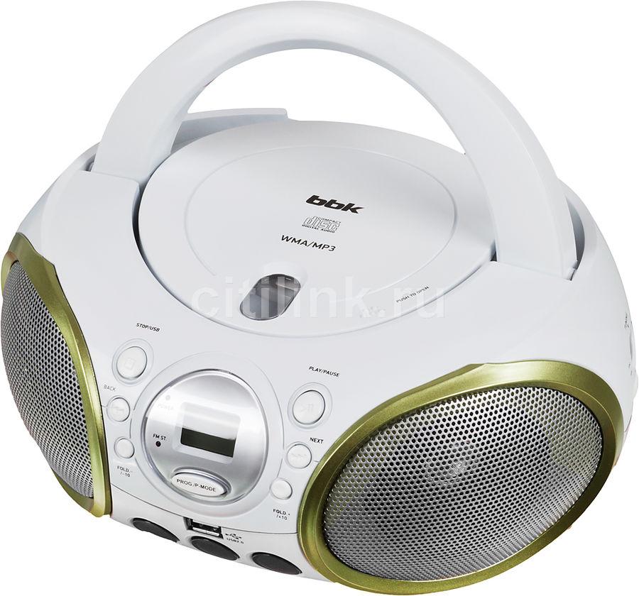 Аудиомагнитола BBK BX100U,  белый и зеленый