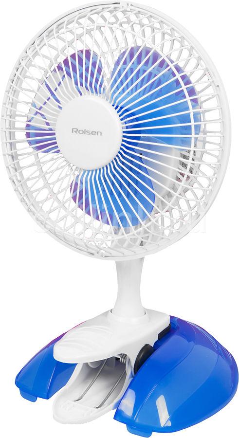Вентилятор настольный ROLSEN RTF-610,  белый и голубой