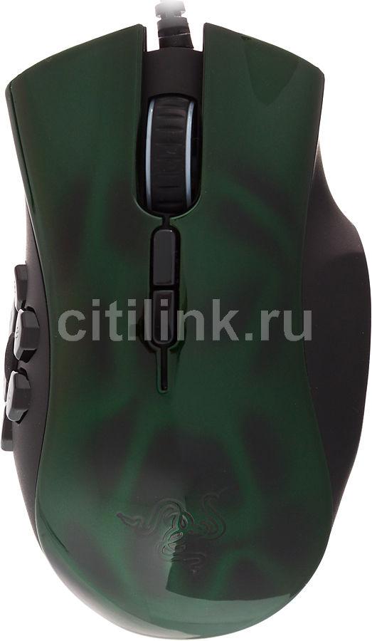 Мышь RAZER Naga Hex лазерная проводная USB, зеленый и фиолетовый [rz01-00750100-r3m1]