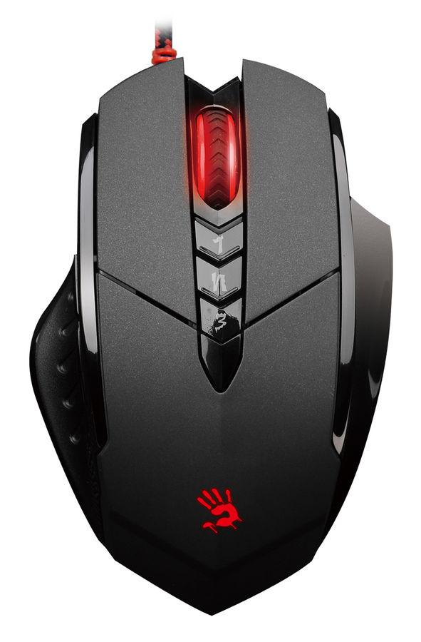 Мышь A4 Bloody V7, игровая, оптическая, проводная, USB, черный