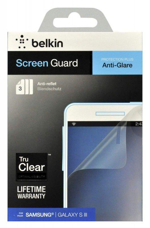 Защитная пленка BELKIN F8N847cw3  для Samsung Galaxy S III,  матовая, 3 шт