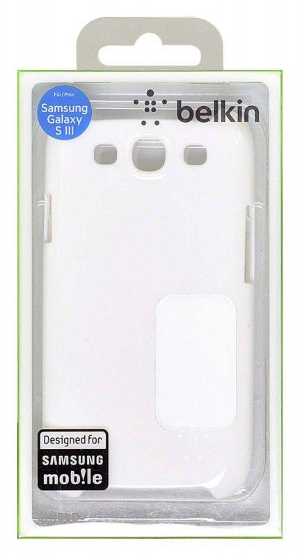 Чехол (клип-кейс) BELKIN F8M402cwC03, для Samsung Galaxy S III, белый