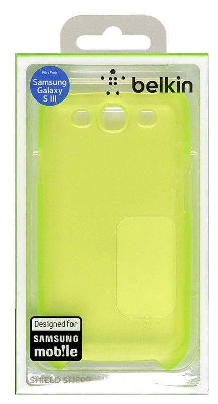 Чехол (клип-кейс) BELKIN F8M403cwC02, для Samsung Galaxy S III, зеленый