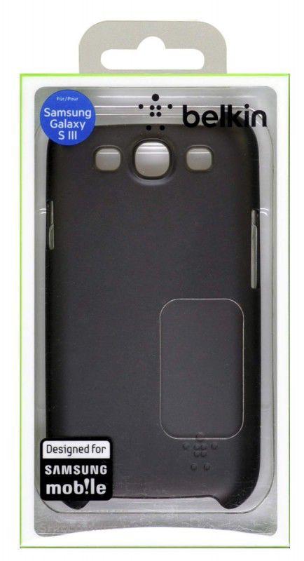 Чехол (клип-кейс) BELKIN F8M403cwC00, для Samsung Galaxy S III, черный