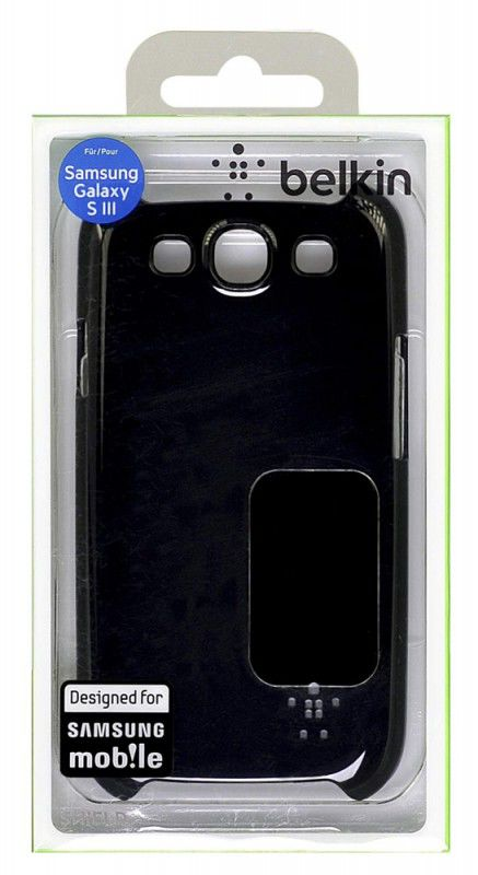 Чехол (клип-кейс) BELKIN F8M402cwC00, для Samsung Galaxy S III, черный