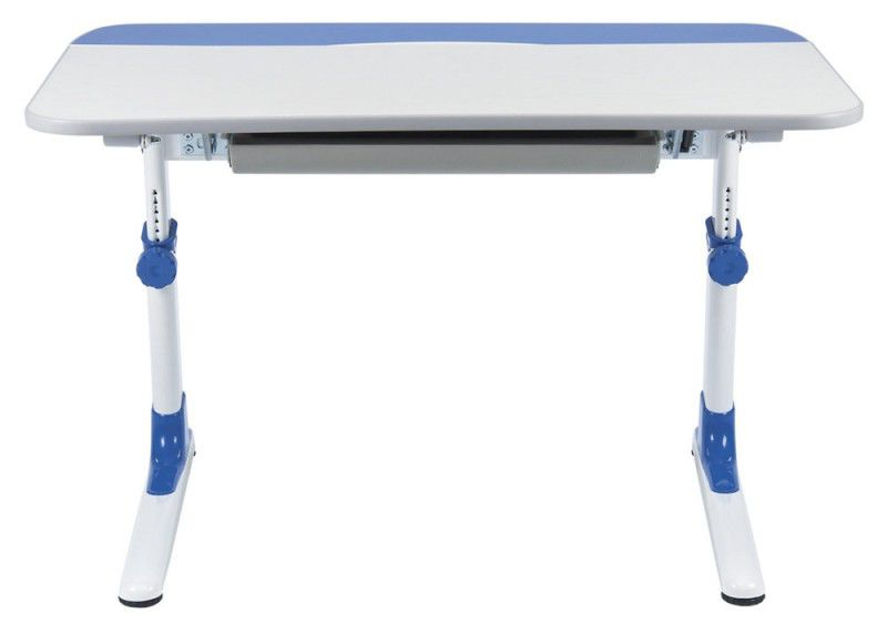 Детский стол  БЮРОКРАТ CONDUCTOR-08,  ЛДСП,  белый и синий
