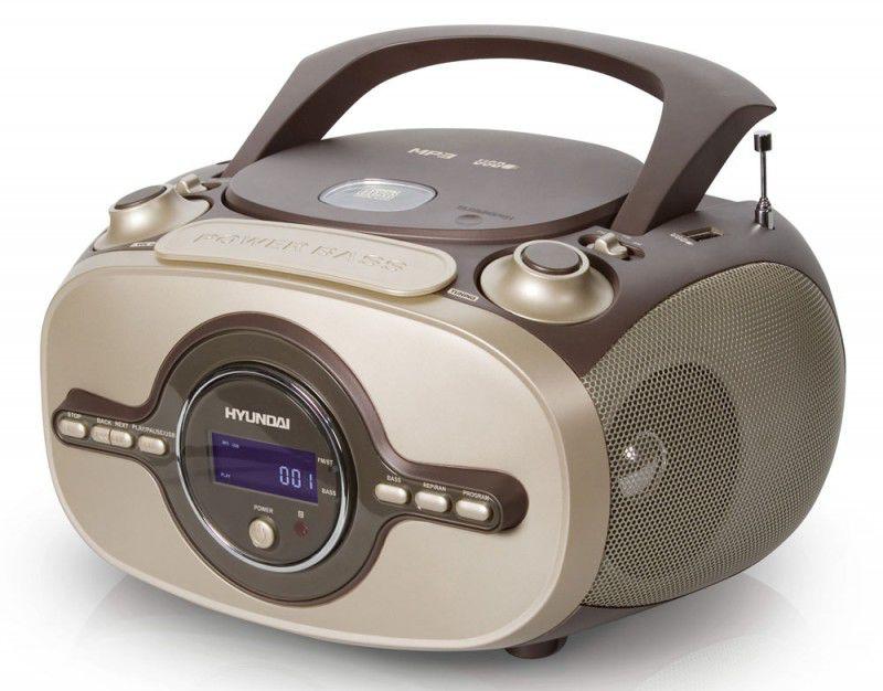 Аудиомагнитола HYUNDAI H-1420,  коричневый