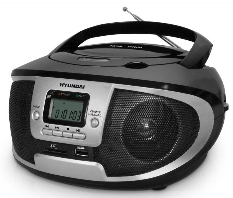 Аудиомагнитола HYUNDAI H-1445,  черный