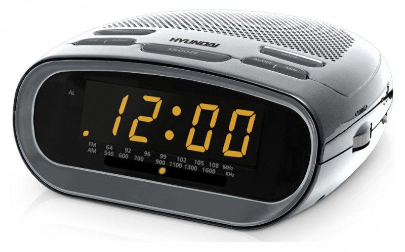 Радиобудильник HYUNDAI H-1512, серебристый