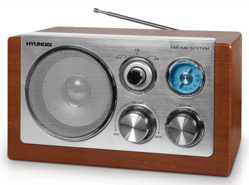Радиоприемник HYUNDAI H-1606,  коричневый