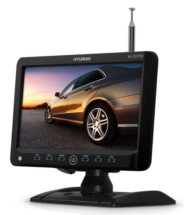Автомобильный портативный телевизор HYUNDAI H-LCD700,  7