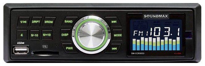Автомагнитола SOUNDMAX SM-CCR3033,  USB,  SD/MMC