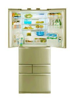 Холодильник TOSHIBA GR-D50FR,  пятикамерный,  золотое шампанское