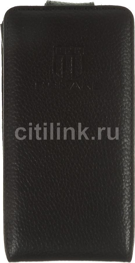 Чехол (флип-кейс) INTERSTEP Milton Deerskin, для Samsung Galaxy S II, черный [hml-sagals2k-nc1101o-k100]