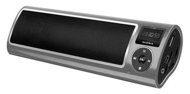 Аудиомагнитола SUPRA PAS-6255,  серебристый