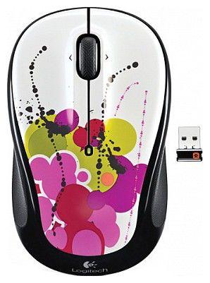 Мышь LOGITECH M325 оптическая беспроводная USB, черный [910-003031]