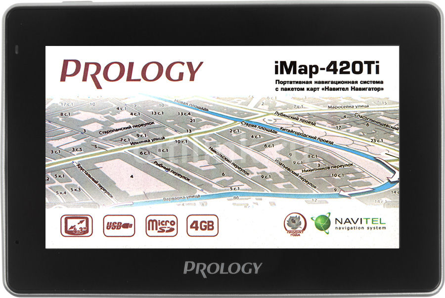 GPS навигатор PROLOGY iMap-420Ti,  4.3