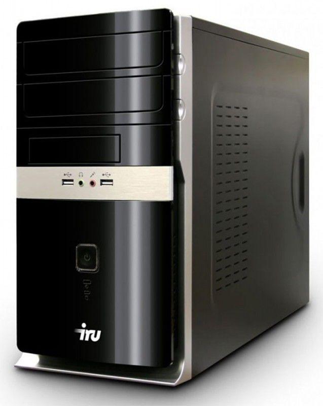 Компьютер  IRU Corp 310,  Intel  Core i3  2120,  DDR3 4Гб, 500Гб,  Intel HD Graphics 2000,  DVD-RW,  noOS,  черный и серебристый