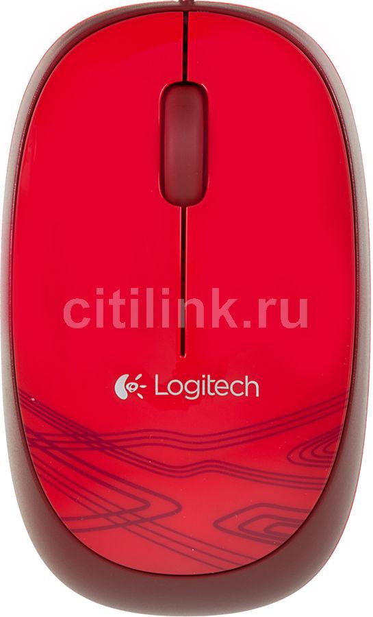 Мышь LOGITECH M105 оптическая проводная USB, красный [910-003118]