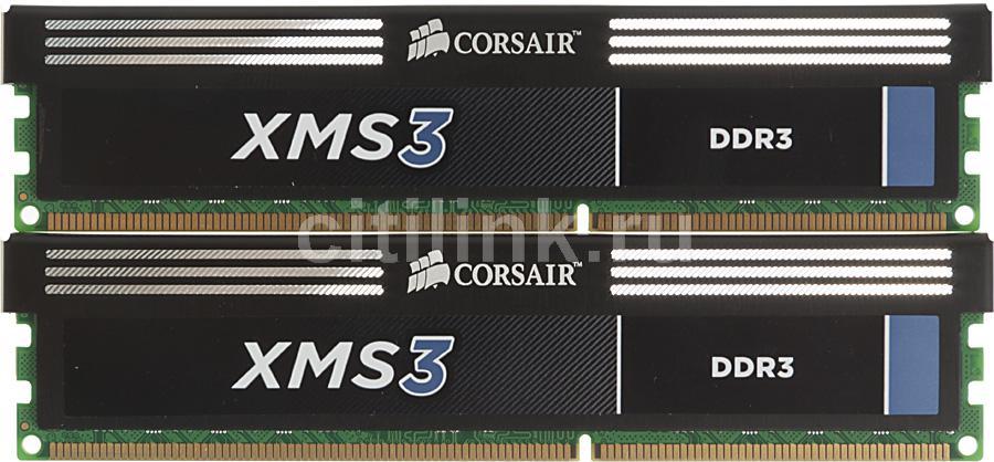 Модуль памяти CORSAIR XMS3 CMX16GX3M2A1333C9 DDR3 -  2x 8Гб 1333, DIMM,  Ret