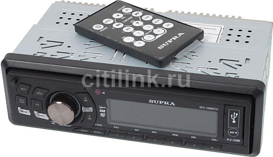 Автомагнитола SUPRA SFD-1008DCU,  USB,  SD/MMC