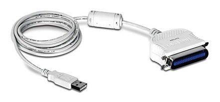 Переходник USB TRENDNET USB A(m) -  IEEE 1284 (m),  2м [tu-p1284]
