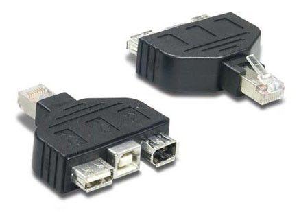 Переходник USB TRENDNET RJ45 -  3 x FireWire/USB A/ USB B [tc-ntuf]