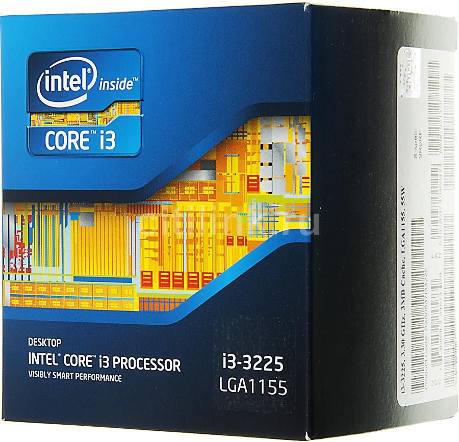 Процессор INTEL Core i3 3225, LGA 1155 BOX [bx80637i33225sr0rf]