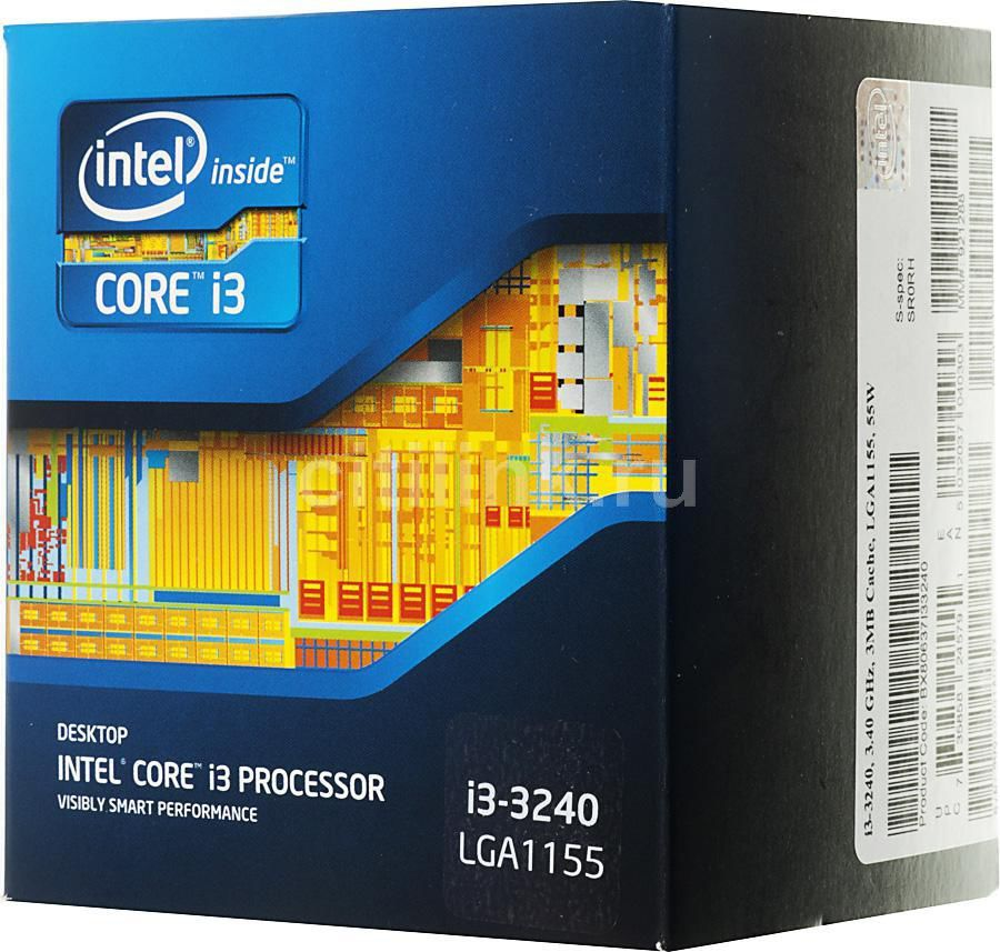 Процессор INTEL Core i3 3240, LGA 1155 BOX [bx80637i33240sr0rh]