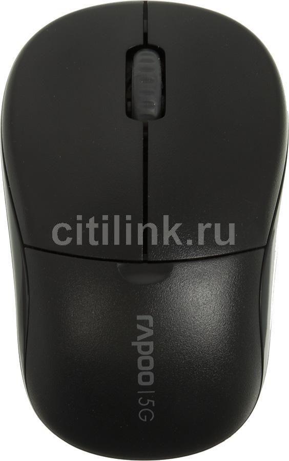 Мышь RAPOO 1090p оптическая беспроводная USB, черный