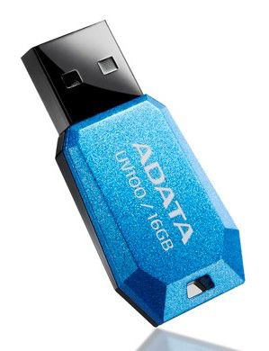 Флешка USB A-DATA DashDrive AUV100 16Гб, USB2.0, синий [auv100-16g-rbl]