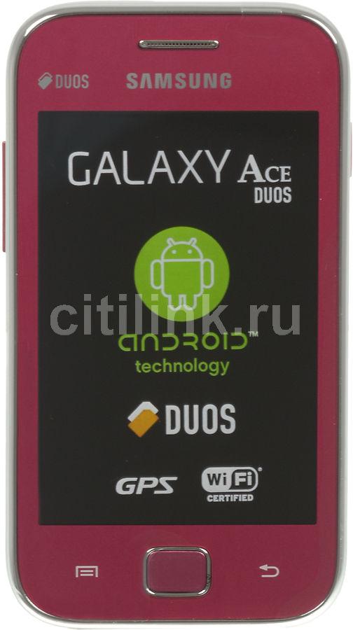 Смартфон SAMSUNG Galaxy Ace Duos GT-S6802  розовый