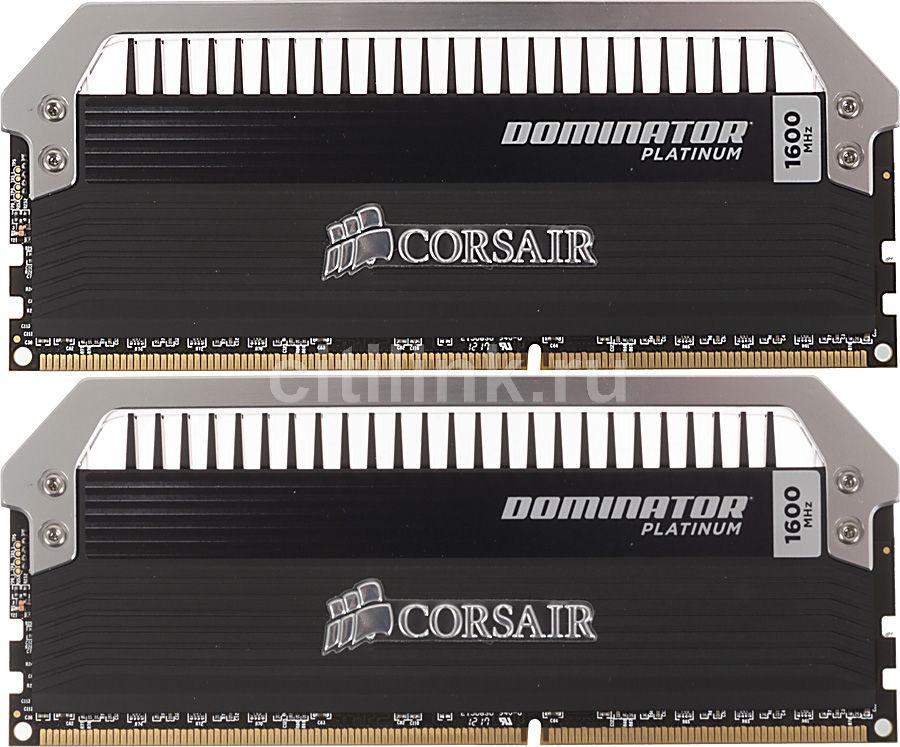 Модуль памяти CORSAIR DOMINATOR PLATINUM CMD8GX3M2A1600C9 DDR3 -  2x 4Гб 1600, DIMM,  Ret