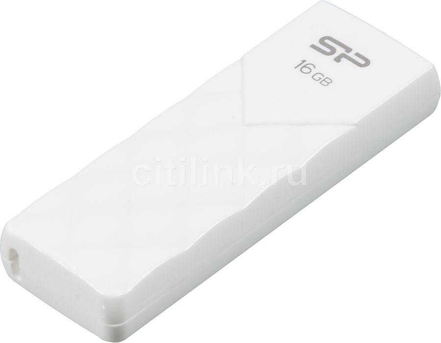 Флешка USB SILICON POWER Ultima U03 16Гб, USB2.0, белый [sp016gbuf2u03v1w]
