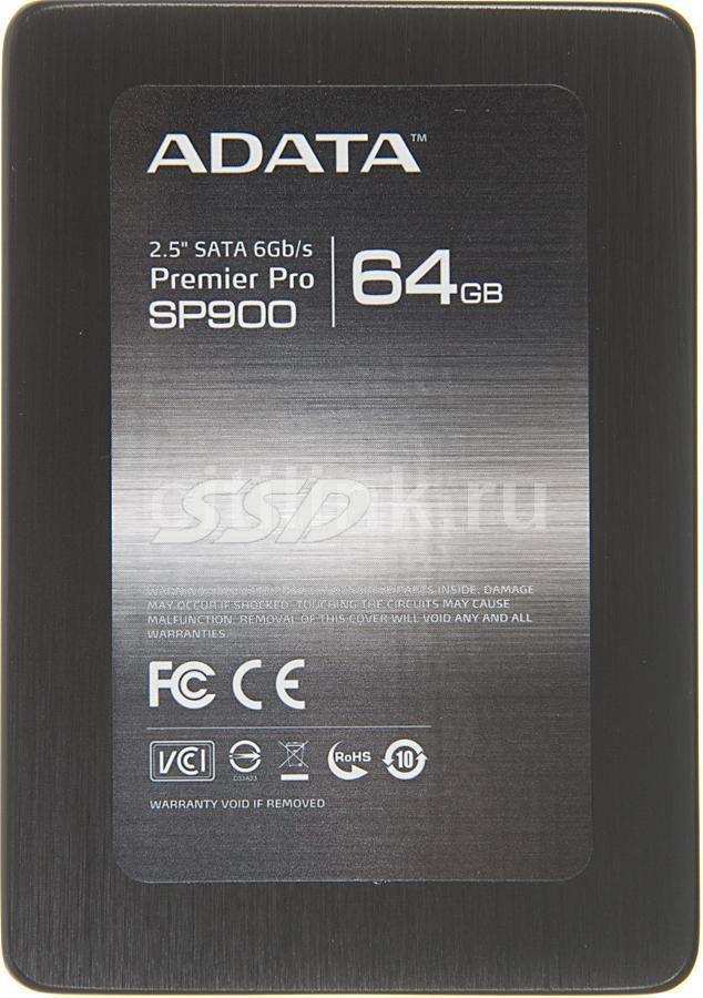 """SSD накопитель A-DATA SP900 ASP900S3-64GM-C 64Гб, 2.5"""", SATA III"""
