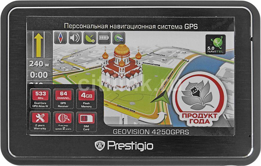GPS навигатор PRESTIGIO GeoVision 4250GPRS,  4.3