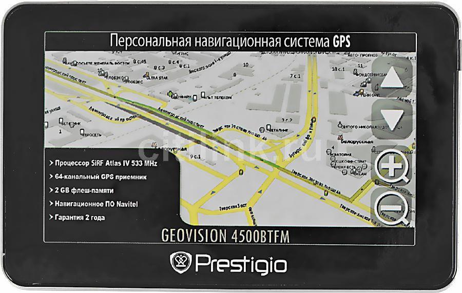 GPS навигатор PRESTIGIO GeoVision 4500 BTFM,  4.3