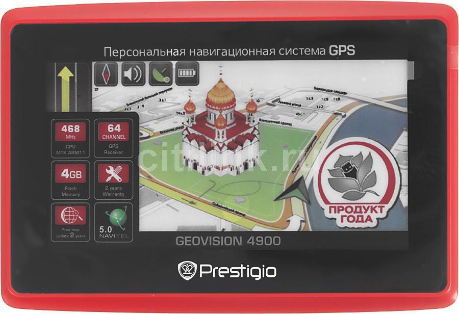 GPS навигатор PRESTIGIO GeoVision 4900,  4.3