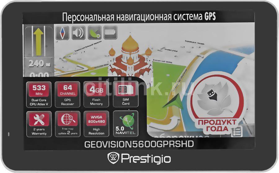 GPS навигатор PRESTIGIO GeoVision 5600GPRSHD,  5