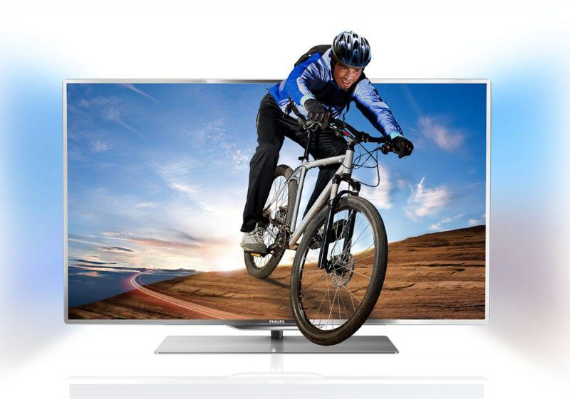 "LED телевизор PHILIPS 55PFL7007T/12  55"", 3D,  FULL HD (1080p),  серебристый"