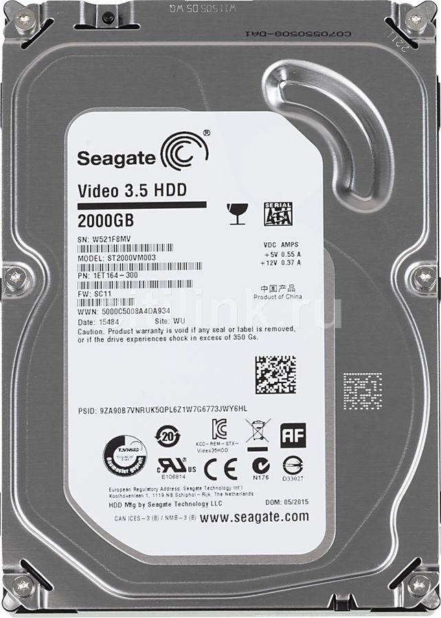 "Жесткий диск SEAGATE ST2000VM003,  2Тб,  HDD,  SATA III,  3.5"""