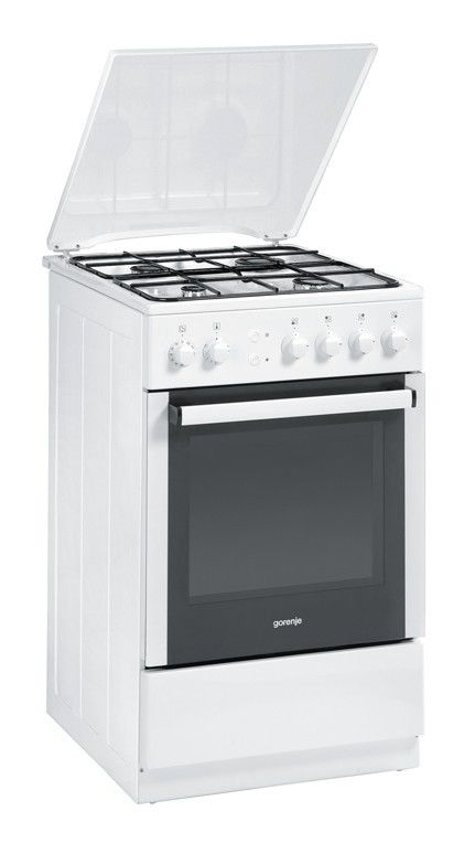 Газовая плита GORENJE GIN 52206 AW,  газовая духовка,  белый [gin52206aw]