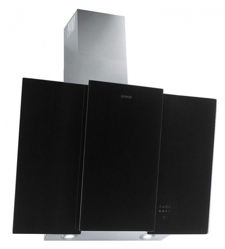 Вытяжка каминная Gorenje DVG8565B черный/серебристый управление: сенсорное