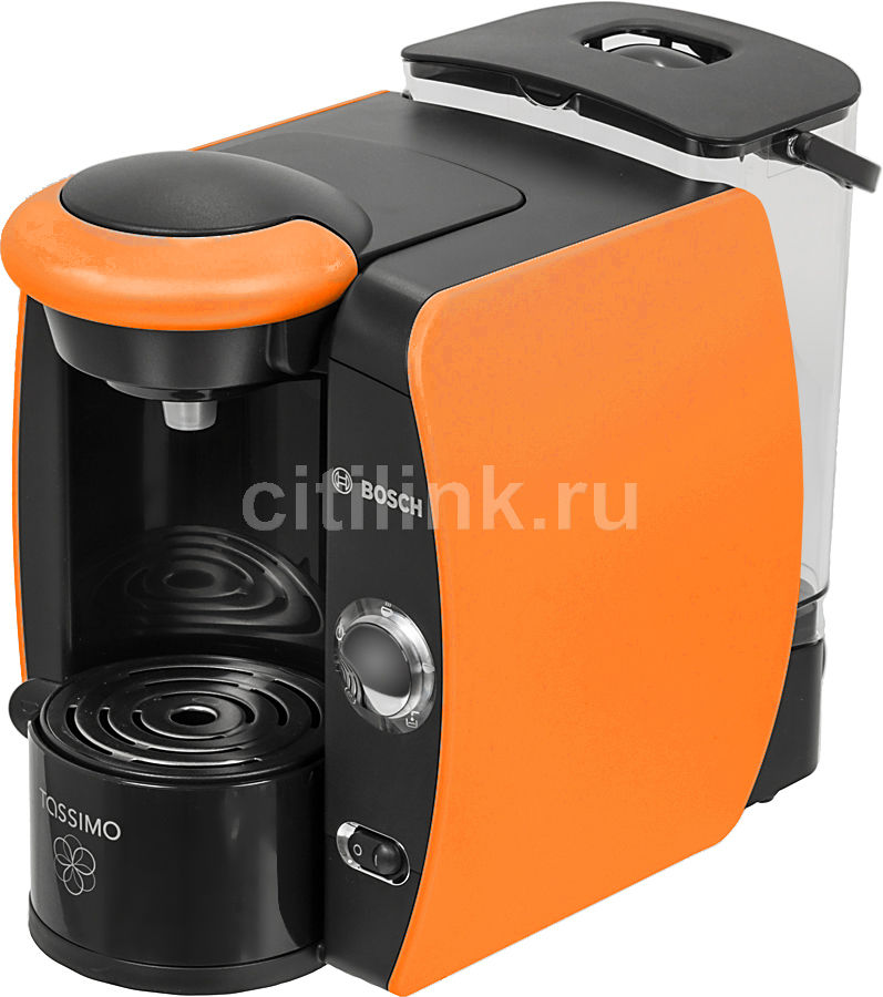 Капсульная кофеварка BOSCH Tassimo TAS4014EE, 1600Вт, цвет: оранжевый