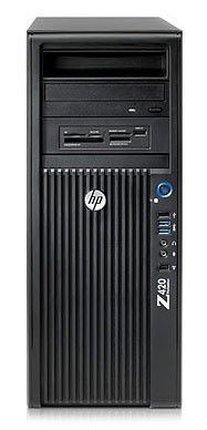 Рабочая станция  HP Z420,  Intel  Xeon  E5-1660,  DDR3 8Гб, 1000Гб,  nVIDIA Quadro 2000 - 1024 Мб,  DVD-RW,  CR,  Windows 7 Professional,  черный [c2z14es]