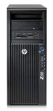 Рабочая станция  HP Z420,  Intel  Xeon  E5-1620,  DDR3 16Гб, 2Тб,  256Гб(SSD),  DVD-RW,  CR,  Windows 7 Professional,  черный [c2y99es]