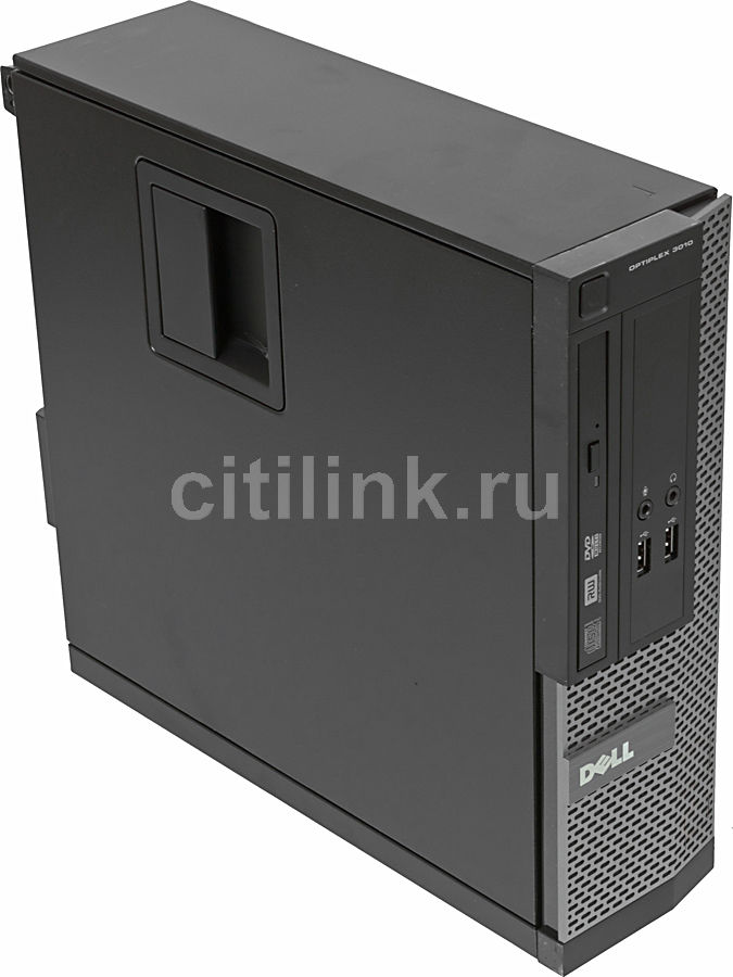 Компьютер  DELL Optiplex 3010 SFF,  Intel  Core i5  3450,  DDR3 4Гб, 500Гб,  Intel HD Graphics 2500,  DVD-RW,  Windows 7 Professional,  черный и серебристый [x063010104r]