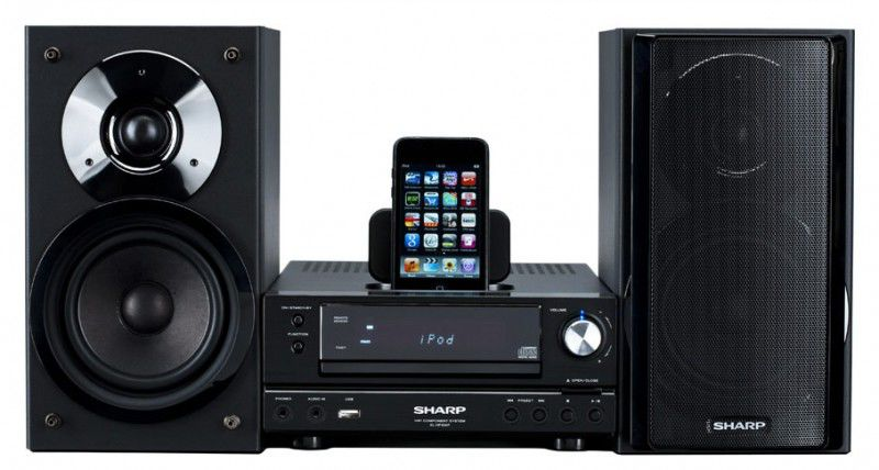 Музыкальный центр SHARP XL-HF200PHBK,  черный [xlhf200phbk]